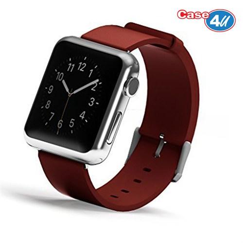 Case 4U Apple Watch 42 mm Klasik Tokalı Kırmızı Kayış