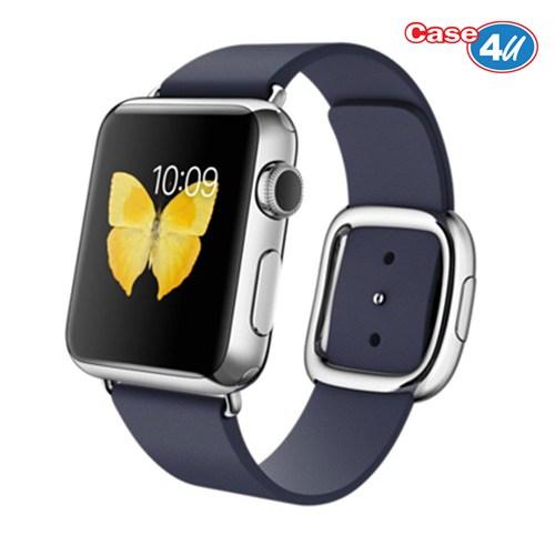 Case 4U Apple Watch 42 mm Klasik Tokalı Lacivert Kayış