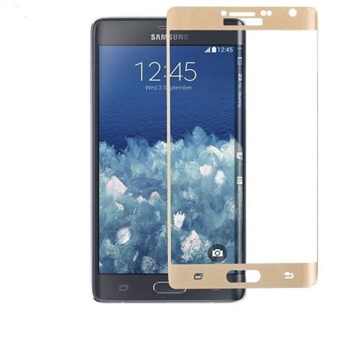 9H Samsung Galaxy Note Edge Kırılmaz Cam Ekran Koruyucu Gold
