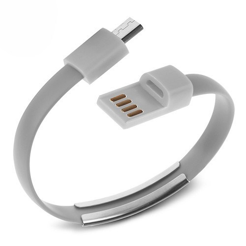 Codegen Micro USB uyumlu Bileklik Şarj Data Kablosu Gri - 599010231