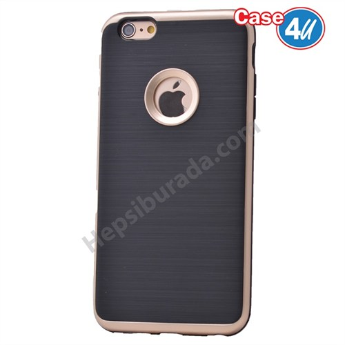 Case 4U Apple İphone 6 Plus Korumalı Arka Kapak Altın