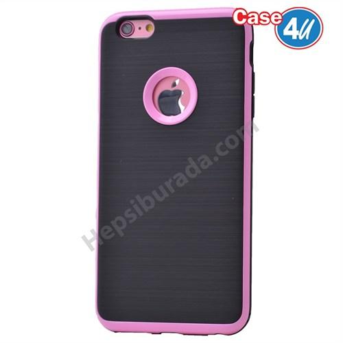 Case 4U Apple İphone 6 Plus Korumalı Arka Kapak Pembe