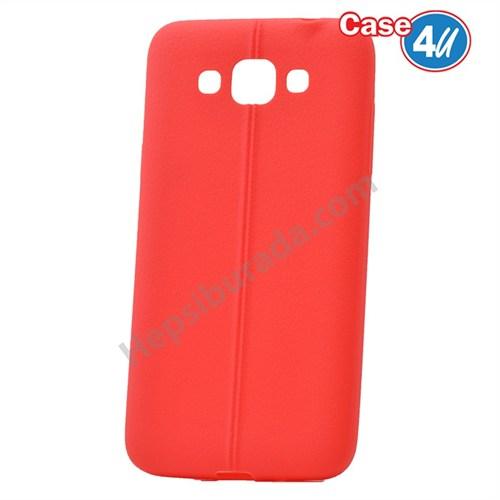 Case 4U Samsung Galaxy Grand Max Desenli Silikon Kılıf Kırmızı