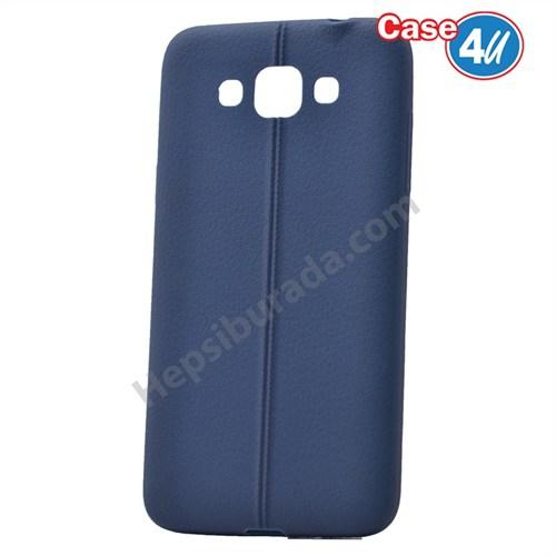 Case 4U Samsung Galaxy Grand Max Desenli Silikon Kılıf Lacivert