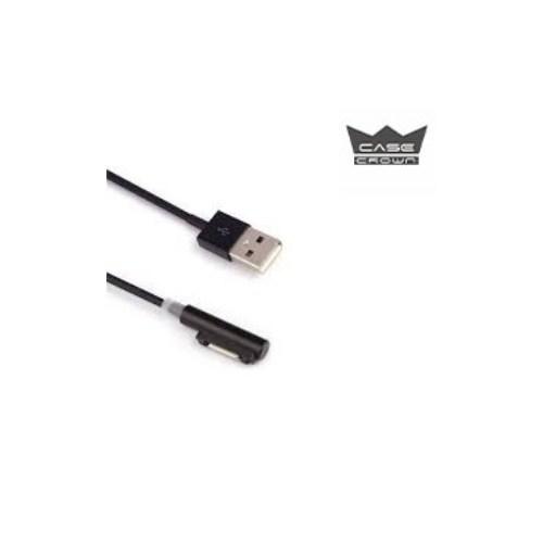 Casecrown Sony Xperia Z1/Z2/Z3 Compact Manyetik Hızlı Şarj Kablosu Ledli Siyah
