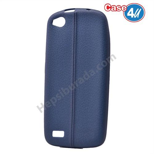 Case 4U General Mobile Discovery Desenli Silikon Kılıf Lacivert