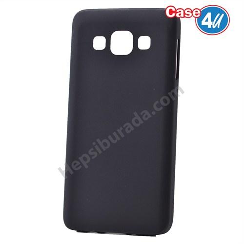 Case 4U Samsung Galaxy E5 Ultra İnce Silikon Kılıf Siyah