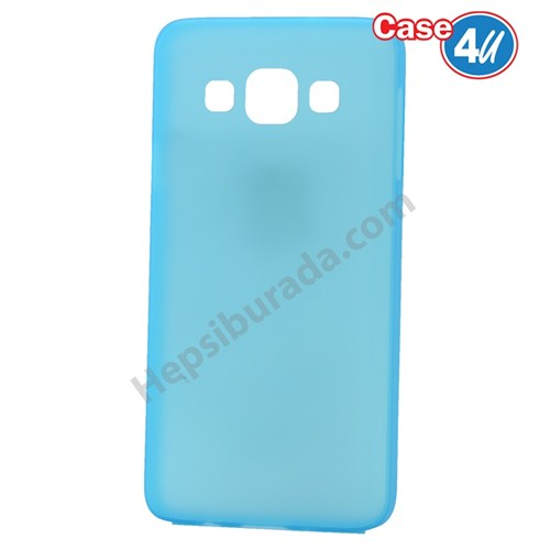 Case 4U Samsung Galaxy A5 Ultra İnce Silikon Kılıf Mavi