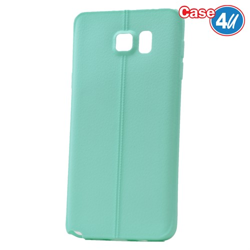 Case 4U Samsung Galaxy Note 5 Desenli Silikon Kılıf Yeşil