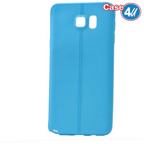 Case 4U Samsung Galaxy Note 5 Desenli Silikon Kılıf Mavi