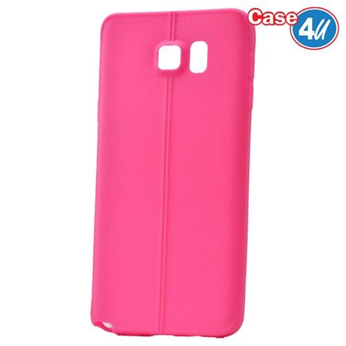 Case 4U Samsung Galaxy Note 5 Desenli Silikon Kılıf Pembe
