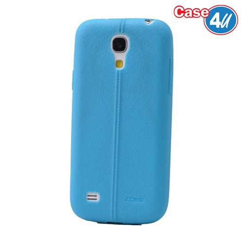Case 4U Samsung Galaxy S4 Mini Desenli Silikon Kılıf Mavi