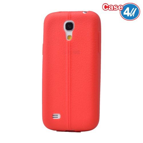 Case 4U Samsung Galaxy S4 Mini Desenli Silikon Kılıf Kırmızı