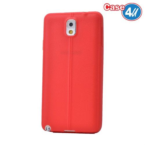 Case 4U Samsung Galaxy Note 3 Desenli Silikon Kılıf Kırmızı