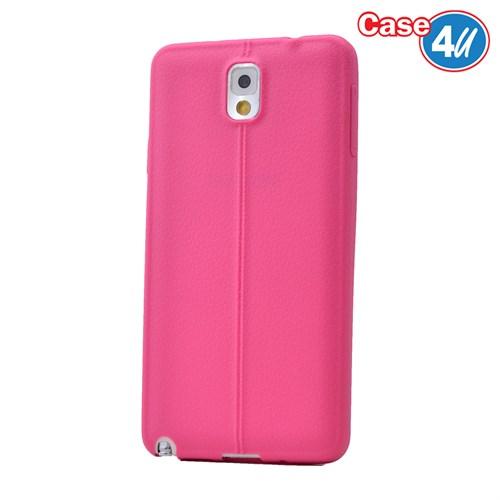 Case 4U Samsung Galaxy Note 3 Desenli Silikon Kılıf Pembe
