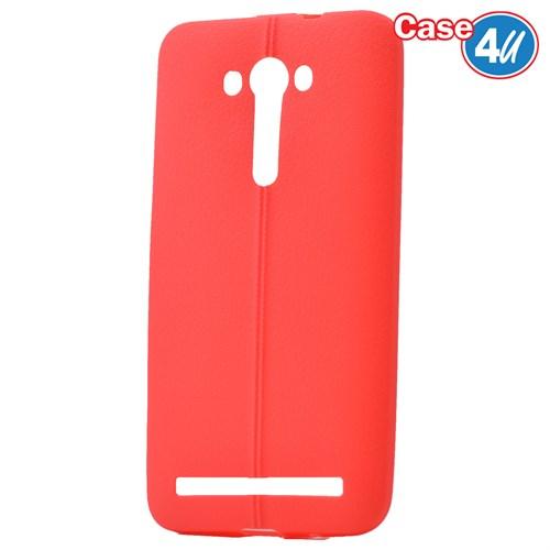 """Case 4U Asus Zenfone 2 Laser 5""""(Ze500kl) Desenli Silikon Kılıf Kırmızı"""