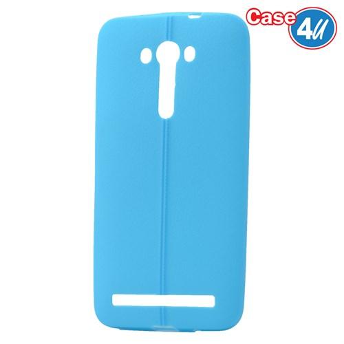 """Case 4U Asus Zenfone 2 Laser 5""""(Ze500kl) Desenli Silikon Kılıf Mavi"""