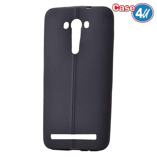 """Case 4U Asus Zenfone 2 Laser 5""""(Ze500kl) Desenli Silikon Kılıf Siyah"""