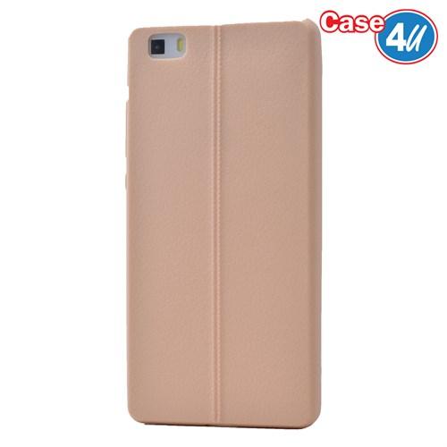 Case 4U Huawei P8 Lite Desenli Silikon Kılıf Altın