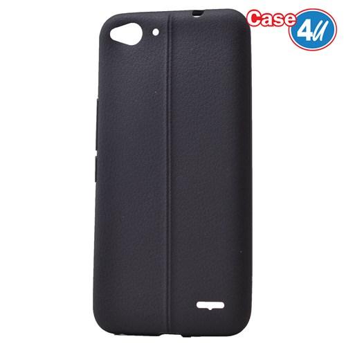 Case 4U Vodafone Smart 6 Desenli Silikon Kılıf Siyah