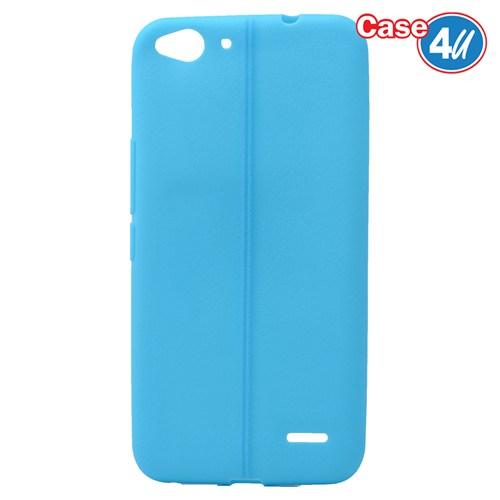 Case 4U Vodafone Smart 6 Desenli Silikon Kılıf Mavi