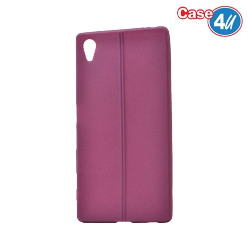 Case 4U Sony Xperia Z5 Desenli Silikon Kılıf Mor