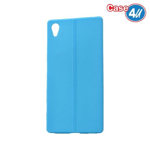 Case 4U Sony Xperia Z5 Desenli Silikon Kılıf Mavi
