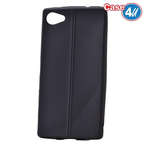 Case 4U Sony Xperia Z5 Compact Desenli Silikon Kılıf Siyah