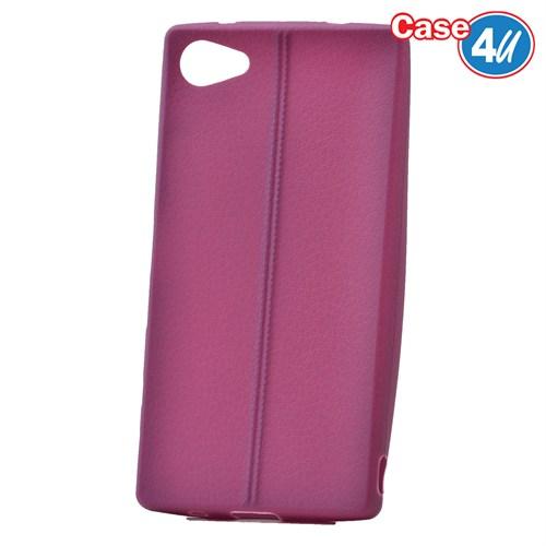 Case 4U Sony Xperia Z5 Compact Desenli Silikon Kılıf Mor