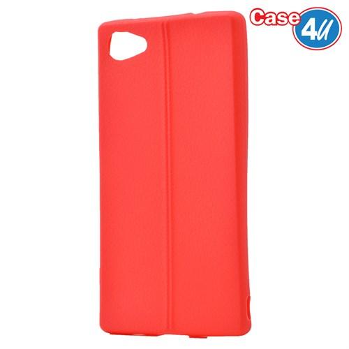 Case 4U Sony Xperia Z5 Compact Desenli Silikon Kılıf Kırmızı