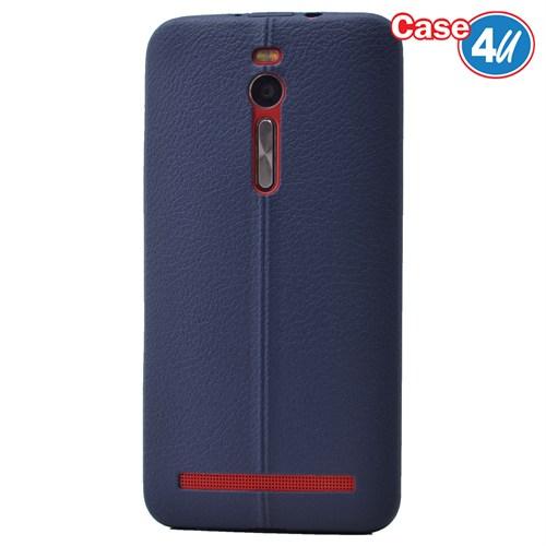 Case 4U Asus Zenfone 2 Desenli Silikon Kılıf Lacivert