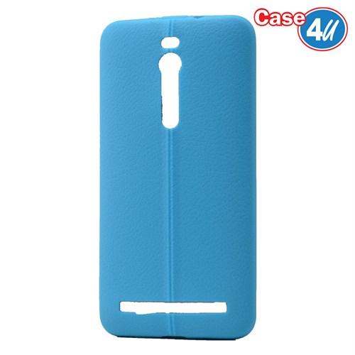 Case 4U Asus Zenfone 2 Desenli Silikon Kılıf Mavi