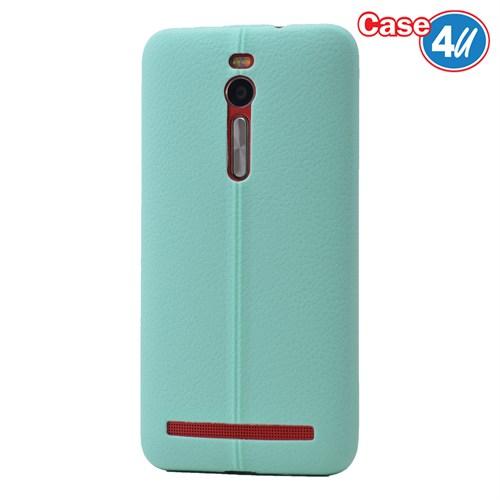 Case 4U Asus Zenfone 2 Desenli Silikon Kılıf Yeşil
