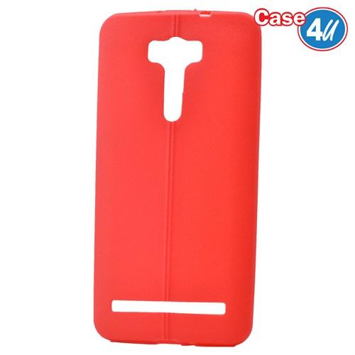 Case 4U Asus Zenfone 2 Laser Ze601kl Desenli Silikon Kılıf Kırmızı