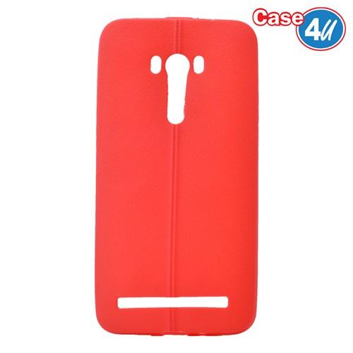Case 4U Asus Zenfone Selfie Desenli Silikon Kılıf Kırmızı