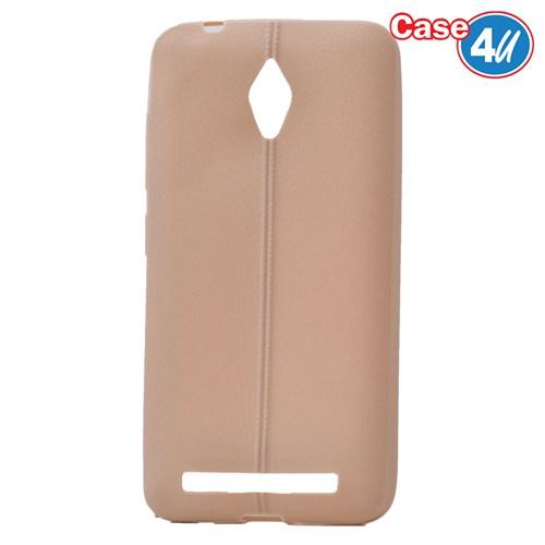 Case 4U Asus Zenfone Go Desenli Silikon Kılıf Altın