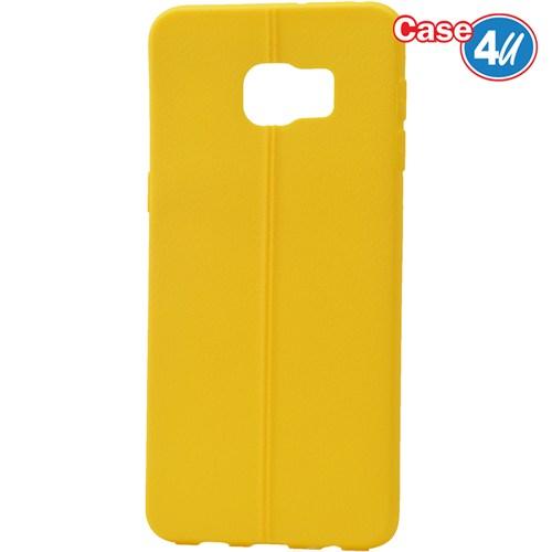 Case 4U Samsung Galaxy S6 Edge Plus Desenli Silikon Kılıf Sarı