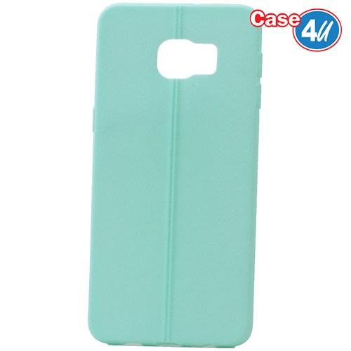 Case 4U Samsung Galaxy S6 Edge Plus Desenli Silikon Kılıf Yeşil