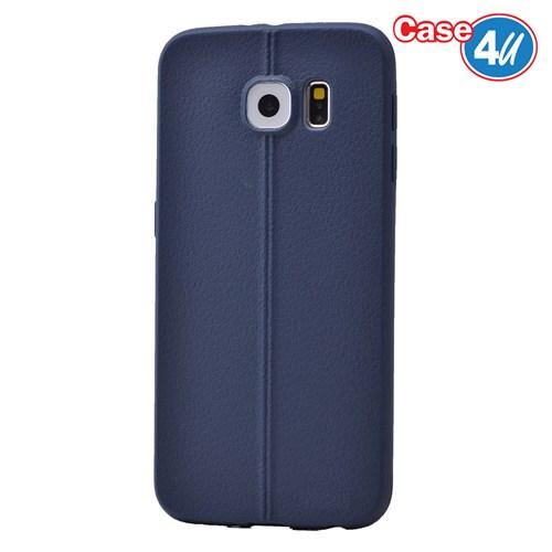 Case 4U Samsung Galaxy S6 Desenli Silikon Kılıf Lacivert