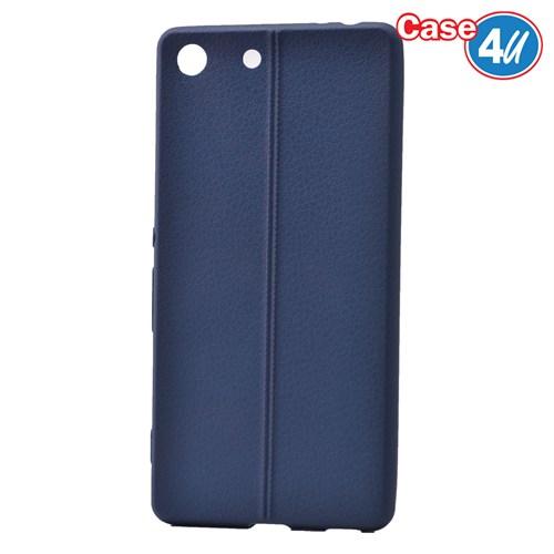 Case 4U Sony Xperia M5 Desenli Silikon Kılıf Lacivert