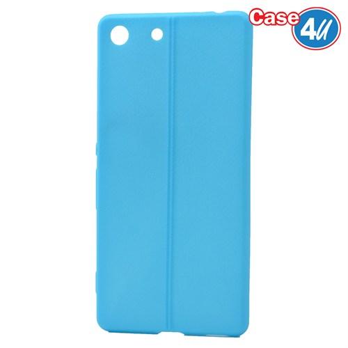 Case 4U Sony Xperia M5 Desenli Silikon Kılıf Mavi
