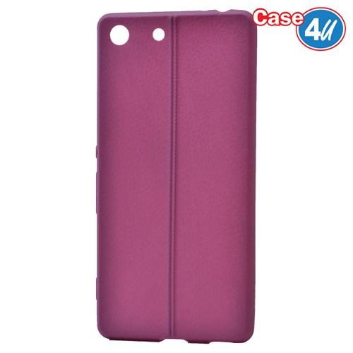 Case 4U Sony Xperia M5 Desenli Silikon Kılıf Mor