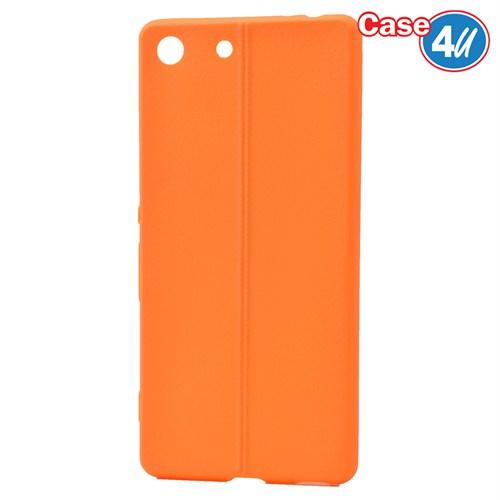 Case 4U Sony Xperia M5 Desenli Silikon Kılıf Turuncu