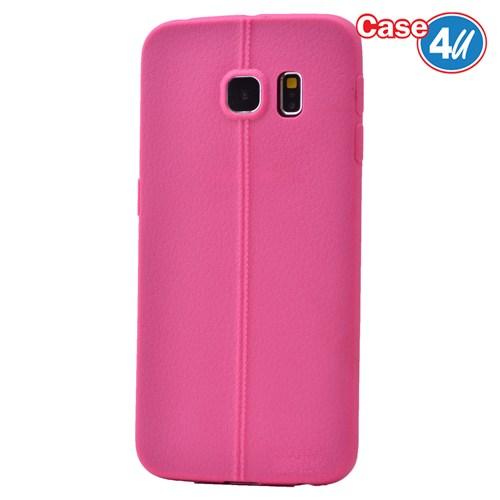 Case 4U Samsung Galaxy S6 Edge Desenli Silikon Kılıf Pembe