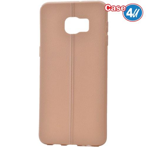 Case 4U Samsung Galaxy S6 Edge Plus Desenli Silikon Kılıf Altın