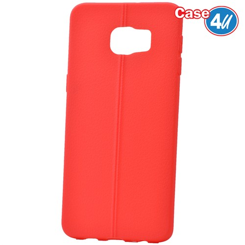 Case 4U Samsung Galaxy S6 Edge Plus Desenli Silikon Kılıf Kırmızı