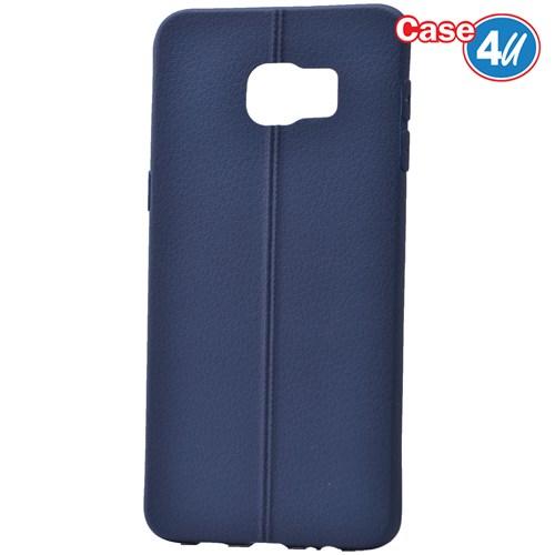 Case 4U Samsung Galaxy S6 Edge Plus Desenli Silikon Kılıf Lacivert