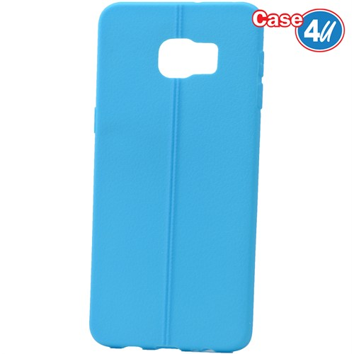 Case 4U Samsung Galaxy S6 Edge Plus Desenli Silikon Kılıf Mavi