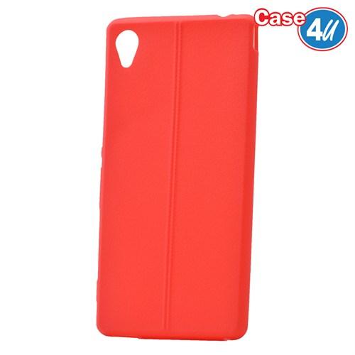 Case 4U Sony Xperia M4 Aqua Desenli Silikon Kılıf Kırmızı