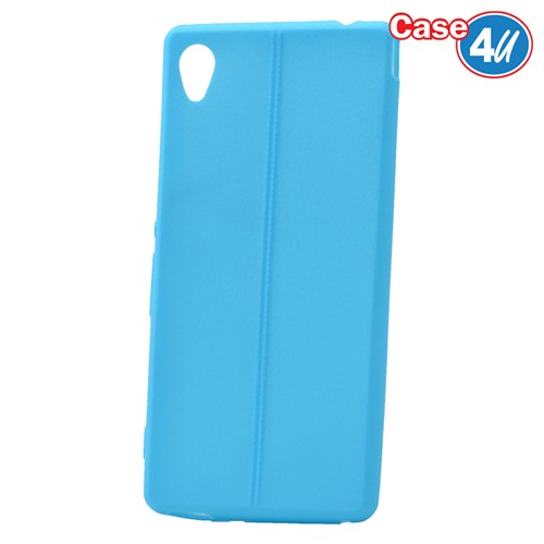 Case 4U Sony Xperia M4 Aqua Desenli Silikon Kılıf Mavi